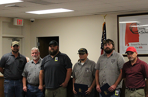 Transportation employees receive recognition for hard work and dedication.
